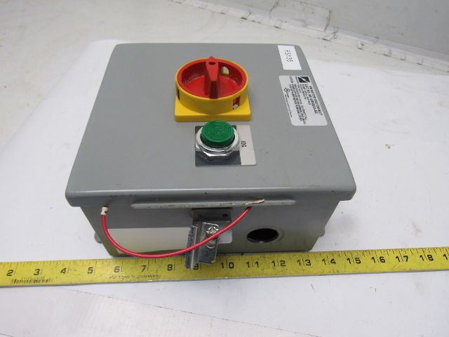 Kg64 600v 20hp 60a 3ph Motor Disconnect Loto Switch In Type 12 Enclosure