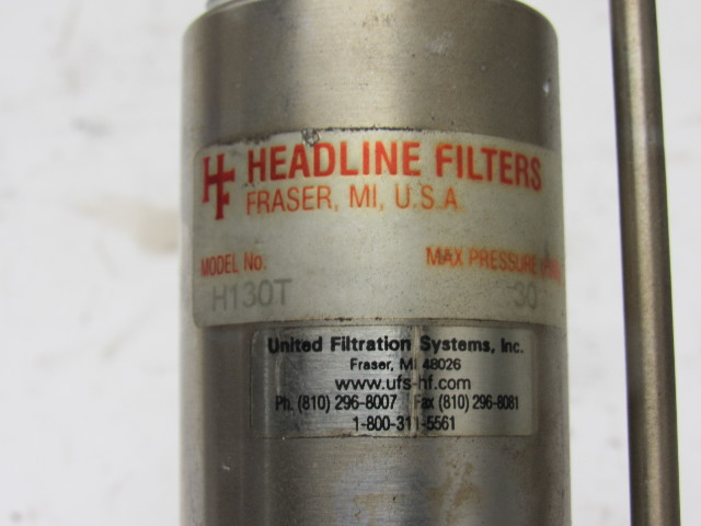 Headline Filters H130T Stainless Steel Heatable Filter Housing 30PSI