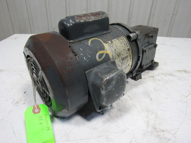 General Electric 5kc35mn73 20 1 Ratio 1  3hp 115  230v 86 25rpm Output Gear Motor