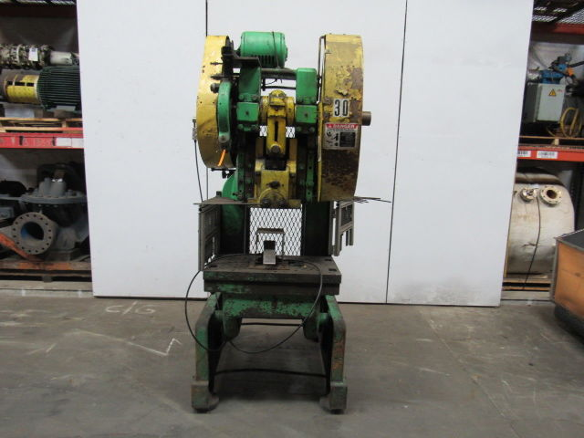 "Rousselle No. 6 Mechanical 60 Ton OBI Punch Press 3"" Stroke 10"" Throat"