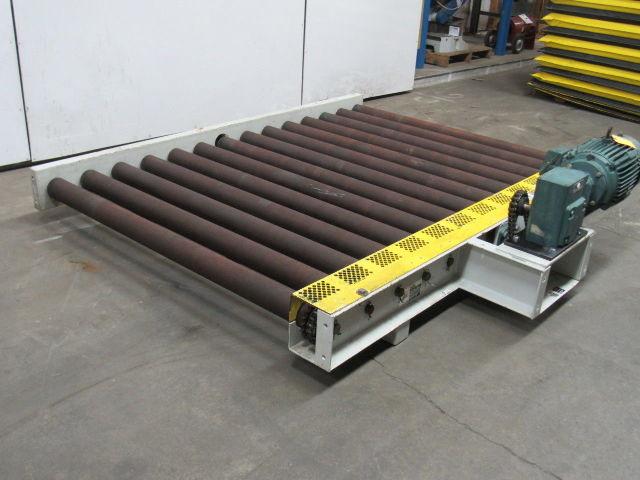 """Used Welders For Sale >> 1Hp Heavy Duty Power Roller Case Conveyor 56""""W x 84""""L ..."""