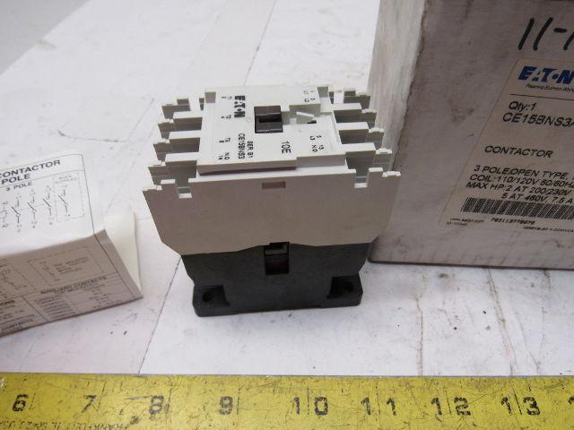 600VAC 25A 3-Pole Eaton E04NB25X3N Contactor Starter w// E02NBXCXNN 24VDC Coil