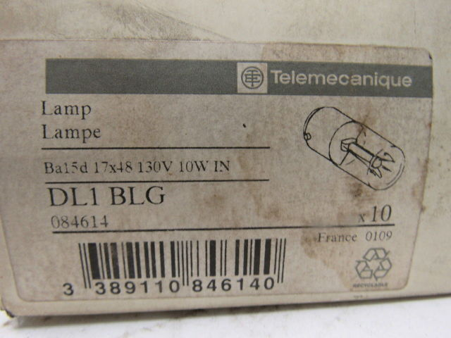Telemecanique DL1-BLG Miniature Light Bulb 130V 10W   NEW