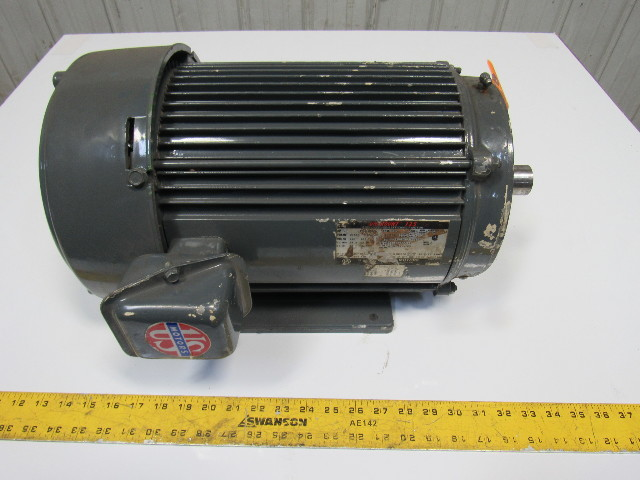 Us Motors 10hp Electric Motor 230 460v 3ph 3500rpm 215tc Frame 1 3 8 Shaft