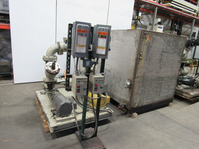 Cooling Tower Water Chiller Systems  (6) Pumps & 1500 Gal Stainless Steel Tank