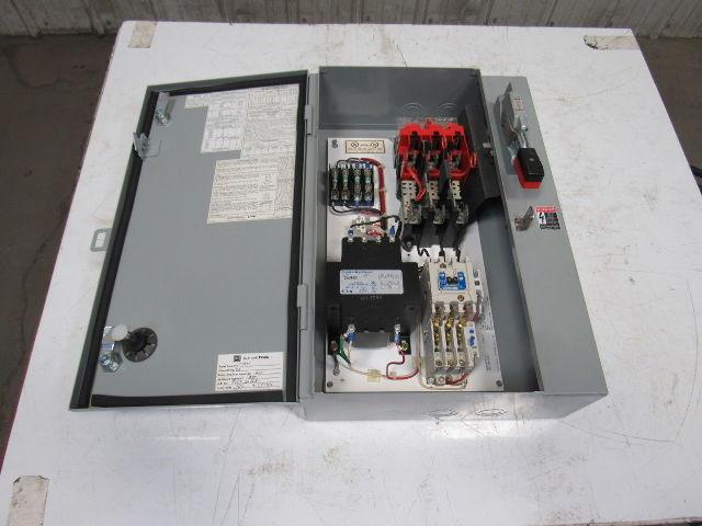 Cutler Hammer 480v 3ph 60hz 10hp Fused Disconnect Motor