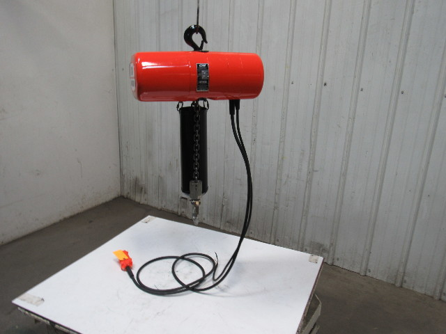 Cm Lodestar Model L 1 Ton Electric Chain Hoist 15 U0026 39  Lift