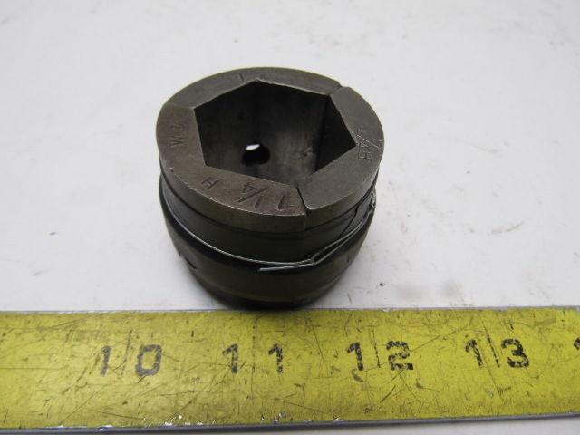"Warner & Swasey W&S 1-1/4"" Hex Machinists Collet Pad Set"