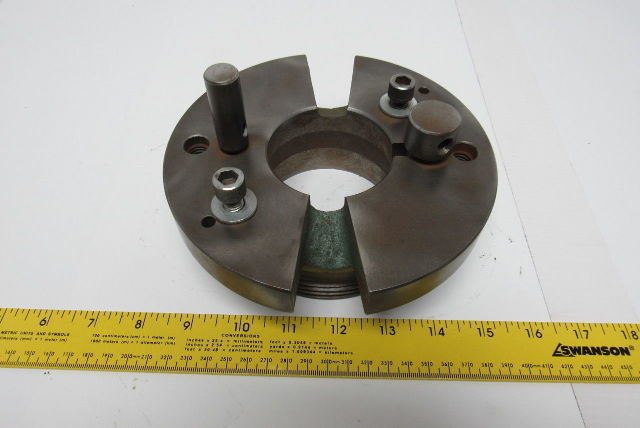 """6-3/4"""" Lathe Driving Faceplate 4-1/2""""-6TPI Threaded Short Taper Nose"""