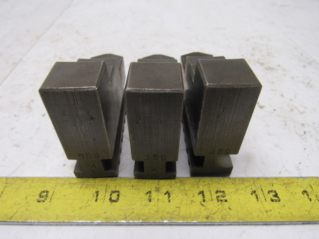 """Self Centering Spiral Lathe Chuck Jaws 3""""x2-1/4"""" x 3/4"""" Lot Of 3"""