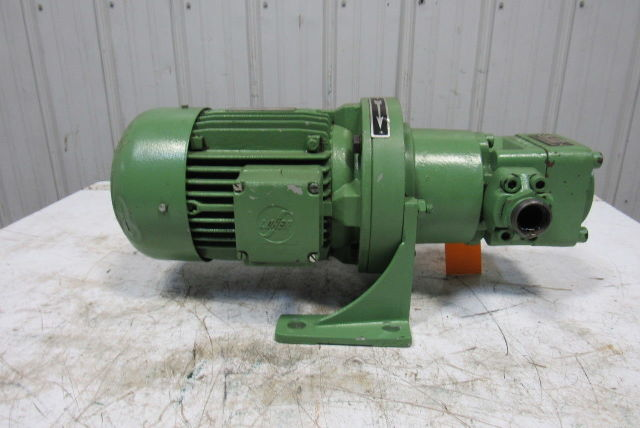 bucher 1zp3n1 025r hydraulic pump w 460v 60hz 3ph motor. Black Bedroom Furniture Sets. Home Design Ideas