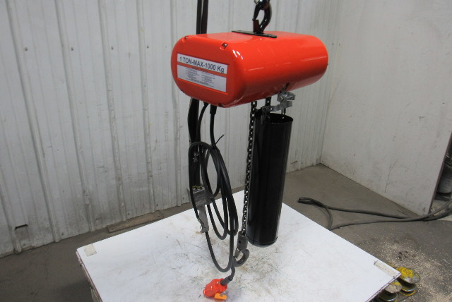 Cm Lodestar Model L 1 Ton 1hp Electric Chain Hoist 230  460v 3ph 18 U0026 39  Lift 16fpm