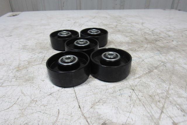 Interroll 3 Quot X 1 Quot Crowned Roller Wheels 3 8 Quot Bore Plastic