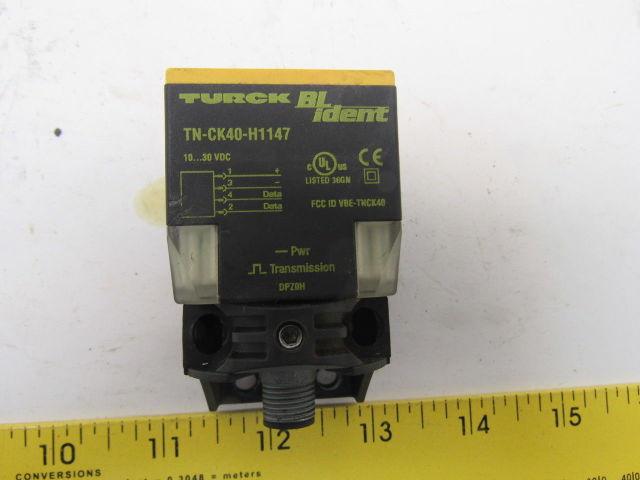 Turck Tn Ck40 H1147 Inductive Proximity Sensor 30 Vdc