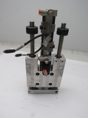 PHD SEC23x3-E-G24-H47-J1 SLD & CYL Pneumatic Dual Rod Slide Table W/Rod lok