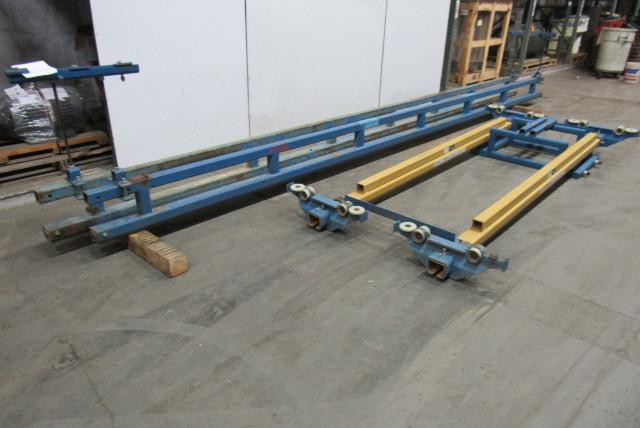 Gorbel 1 Ton Ceiling Mounted Bridge Crane 10 Span X 20