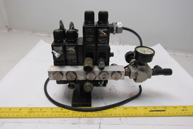Details About Taiyo Herion 5er 8e Type 0213 5 Port Solenoid Operated Valve Bank 4 Valves