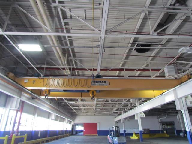 Demag 40 Ton 80,000 lbs 2-20 Ton Hoists Top Running Double Girder Bridge Crane