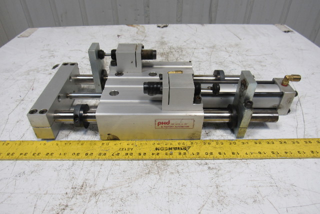 "PHD SEC 26x8-BS-BT-G Pneumatic Linear Slide & Cylinder Assembly Up to 8"" Stroke"