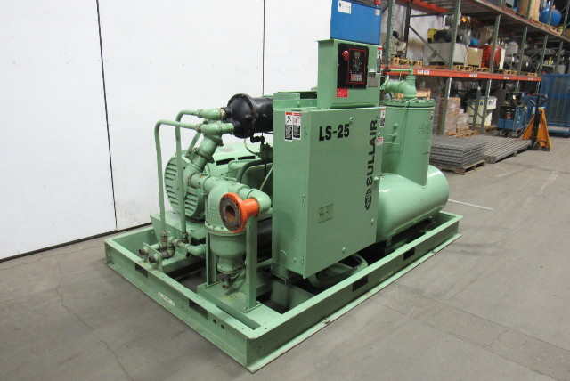 Ls 460 For Sale >> Sullair LS25-200L W/C KT 200HP Rotary Screw Air Compressor Water Cooled 460V 3Ph   Bullseye ...