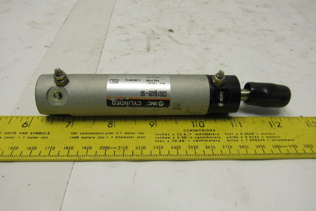 """SMC CDG1BA20-50 25mm Bore  1-1/2"""" Stroke Double Acting Air Cylinder 145PSI"""