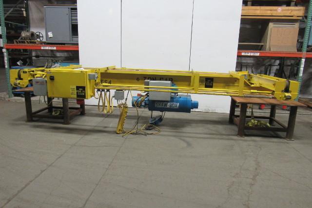 6 Ton 18' Power Bridge Crane Bottom Runner W/Shawbox Wire rope & Power Trolley
