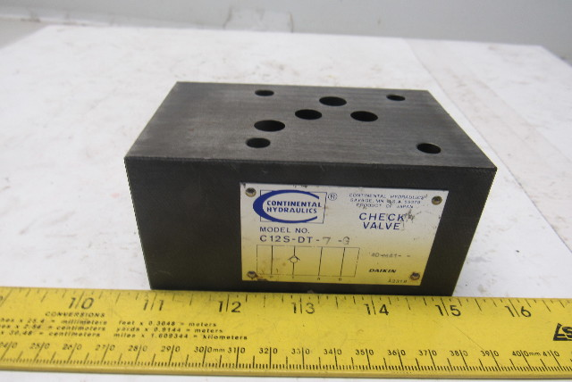 Continental Hydraulics C12S-DT-7-G Pilot Operated Check Valve Sandwich Module