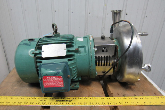 """Reliance P18G1017K 3Hp 1730RPM 230/460V 2-1/2""""x2"""" Stainless Steel Pump"""
