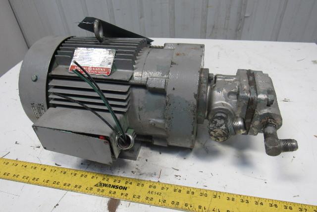 General Electric 5R184JL247 5Hp 230/460V 3Ph Denison 6K7 Hydraulic Pump
