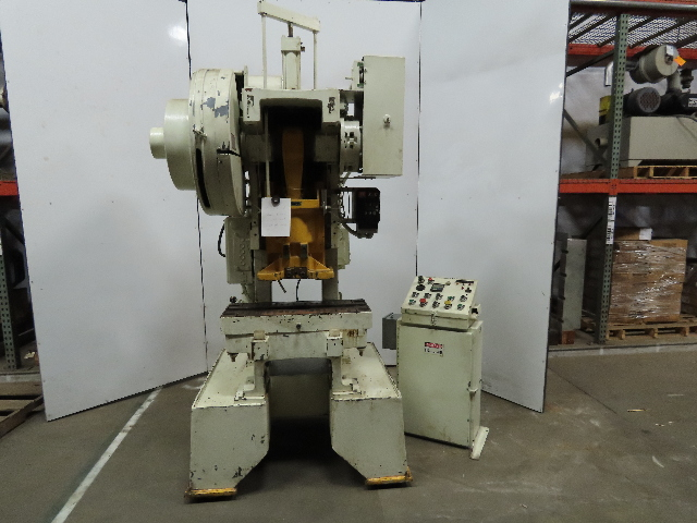 """Perkins 22-S 22 Ton Gap Frame Press 1-1/2"""" Stroke 7"""" Throat 39""""x12"""" Bed AS IS"""