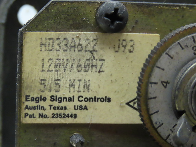 Eagle Signal HD32A622 120V 5 5 Minute Timer Relay