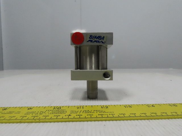 """Bimba Flat-1 1-9/16"""" Bore 1"""" Double Ended Push Pull Air Cylinder"""