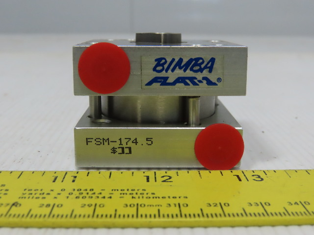 "Bimba FSM-174.5 Flat-1 1-9/16"" Bore 3-1/6"" Stroke Double Acting Air Cylinder"