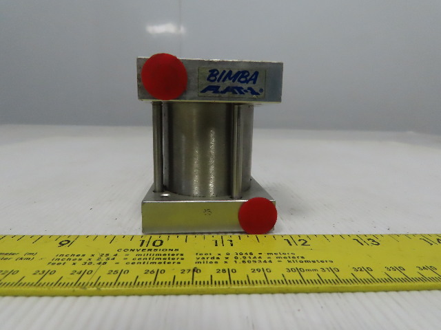 "Bimba Flat-1 1-9/16"" Bore 1-1/4"" Stroke 5/8"" Rod Double Acting Air Cylinder"
