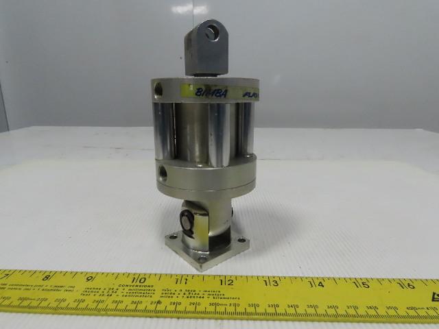 "Bimba Flat-1 1-9/16"" Bore 1-1/2"" Stroke 5/8"" Rod Clevis Mount Air Cylinder"