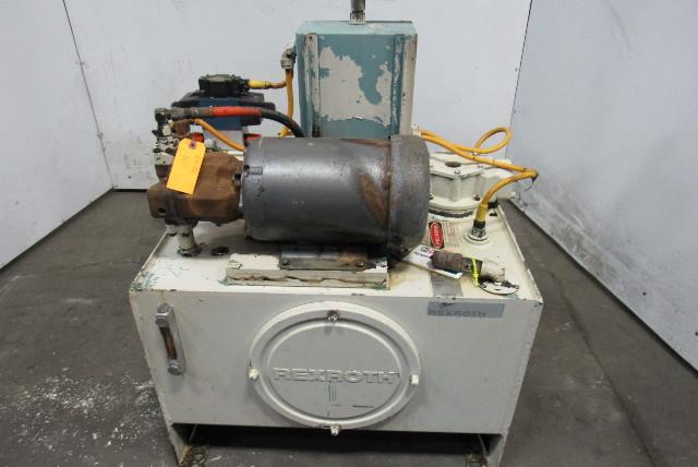Rexroth A10VSO18DR 5Hp 30 Gallon Hydraulic Power Unit 3Ph 15.7Gpm 4000PSI Pump