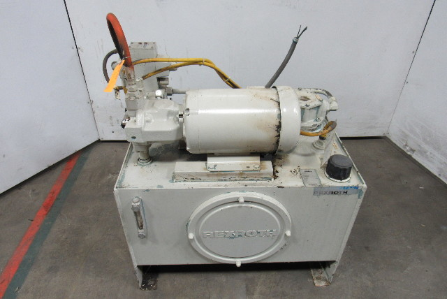 Rexroth A10VSO18 5Hp Hydraulic Power Unit 30 Gal 230/460V 4000PSI 15.7GPM Pump