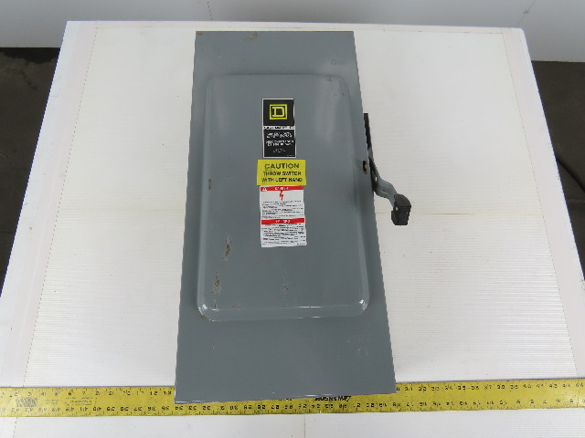 Square D D324N Ser E4 General Duty Fusible Disconnect Safety Switch 200A 240V