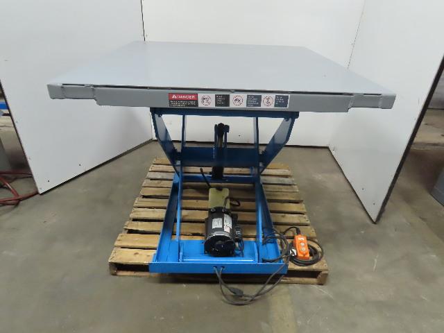 Bishmon 2000Lbs  1 Ton 115V Hydraulic Scissor Lift Table 48