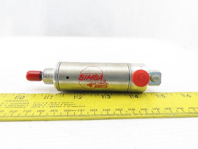 "Bimba 091-P 1-7/16"" Bore 1-1/4"" Stroke Single Acting Air Cylinder Spring Return"