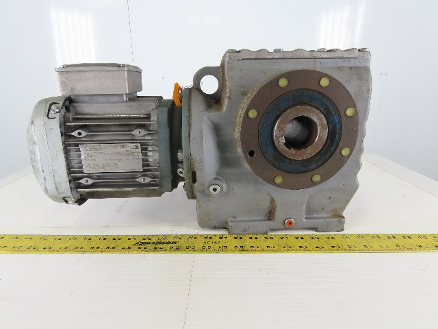 SEW-EURODRIVE SA77DRE90M4 1-1/2Hp Gear Motor 266/460Y 3Ph 225.26/1 Ratio 7.7RPM