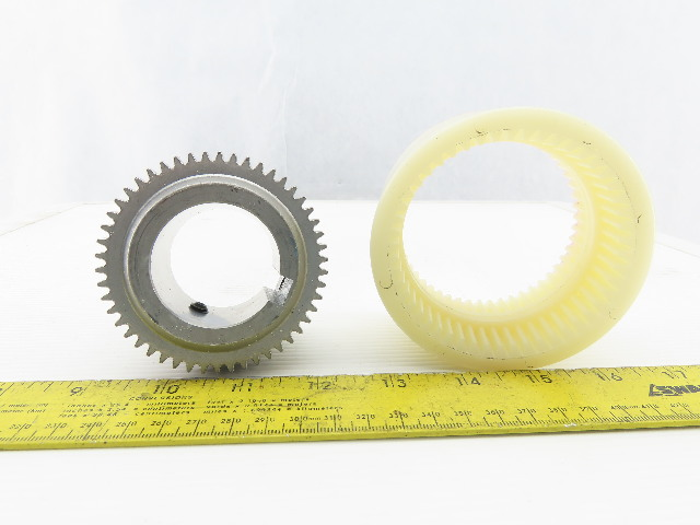 "BoWex M-42 1-5/8"" Bore Flexible Gear Coupling"