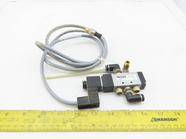 """Premier V500001US K-Tron 4/2 Position 24V Solenoid Operated Air Valve 1/4"""" Ports"""