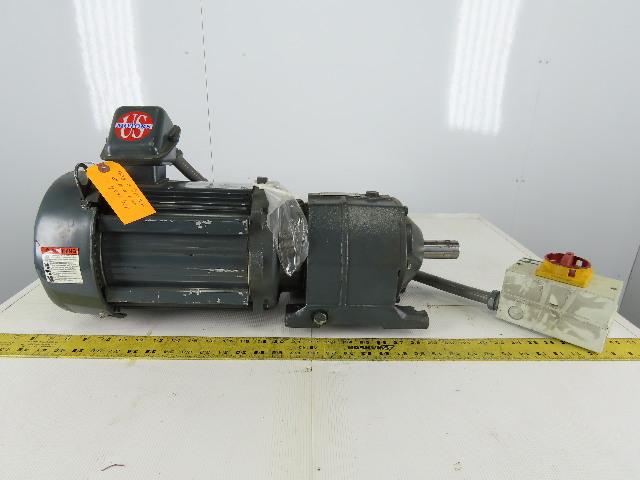 US Motors CBN22025B622MT1803 Inline Gear Motor 22:1 Ratio 3Hp 208-230/460V 3Ph