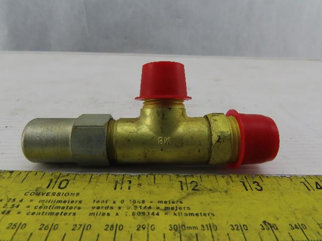 "Henry Valve Co. 7792-B Packed Brass Angle Valve 1/2"" MPT x 1/2"" Flare"