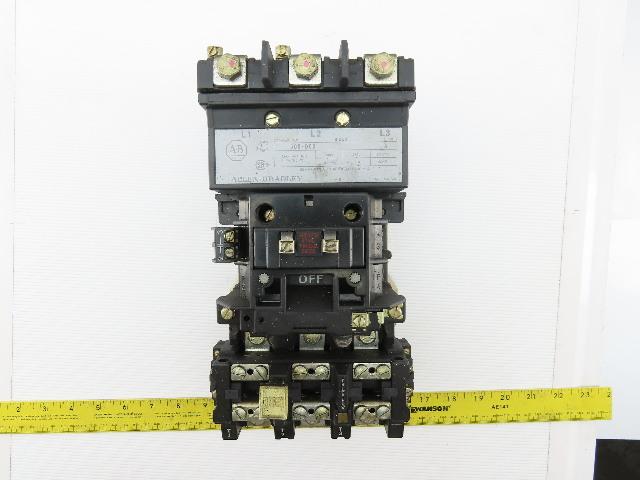 Allen Bradley 509-D0D Ser A Size 3 Motor Starter Contactor 120V Coil 90 Amp Max
