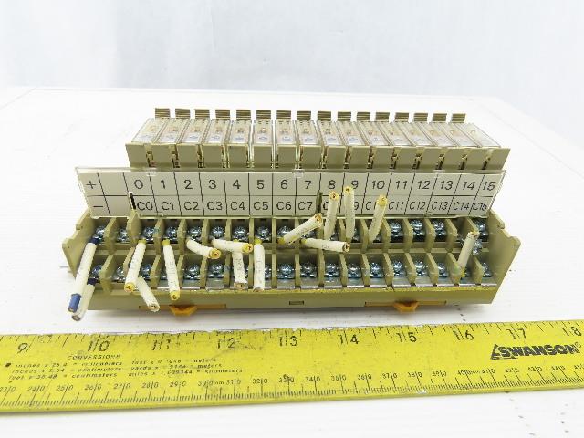Omron G7TC-OC16 16 Socket Relay Base 16 Relays 24VDC 10A