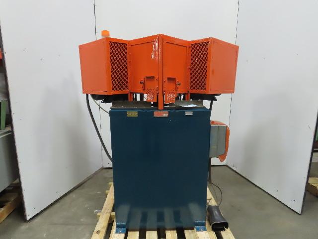 "CTD D-45 12"" 208-230/480V 3920RPM 45° Double Miter Notch Frame Saw"
