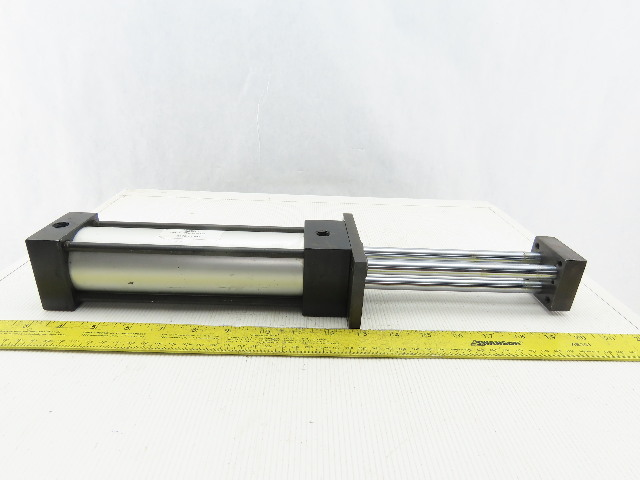 """TRD Manufacturing CYL-9076726 2"""" Bore 6"""" Stroke 3 Rod Guided Air Cylinder"""