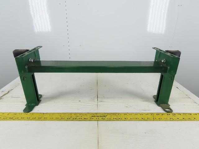 """Dematic 24-1/2"""" Frame Width Short Conveyor Section Leg Bracket 10"""" Tall"""